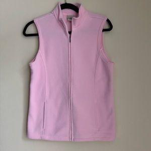 L.L. Bean Light Pink Fleece Vest Medium
